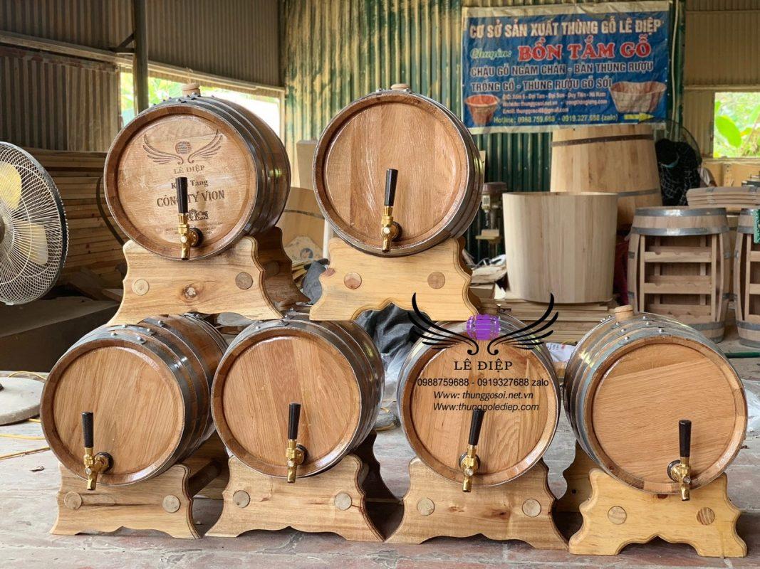 bán thùng rượu gỗ 20 lít