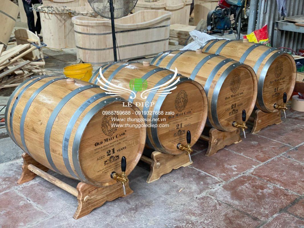 bán bom rượu gỗ
