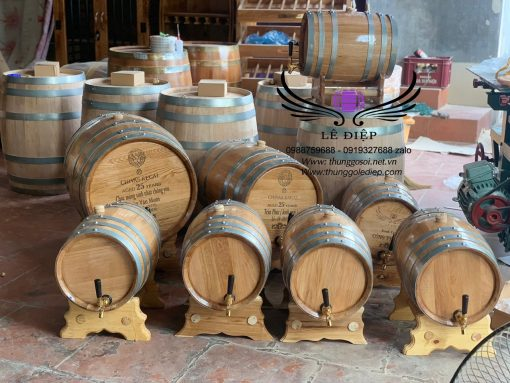 bán thùng rượu gỗ sồi 50l