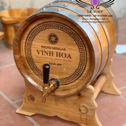 bom rượu gỗ sồi 30l