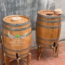 bom rượu gỗ sồi 50 lít