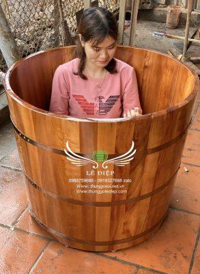 bồn tắm gỗ pơmu việt