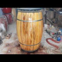 Trống hát văn gỗ mít da trâu