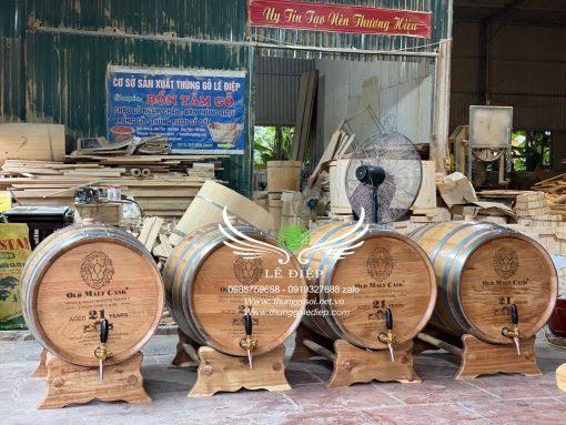 thùng đựng rượu gỗ sồi 100l