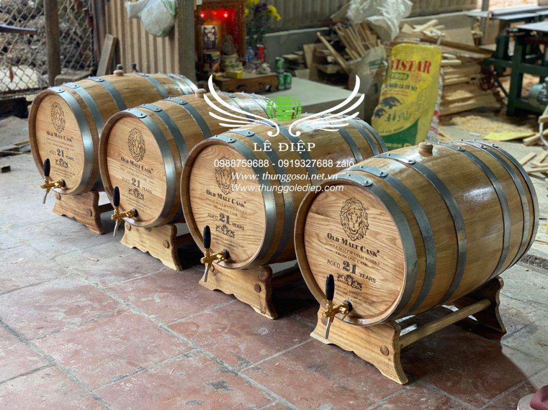 bom gỗ ngâm rượu