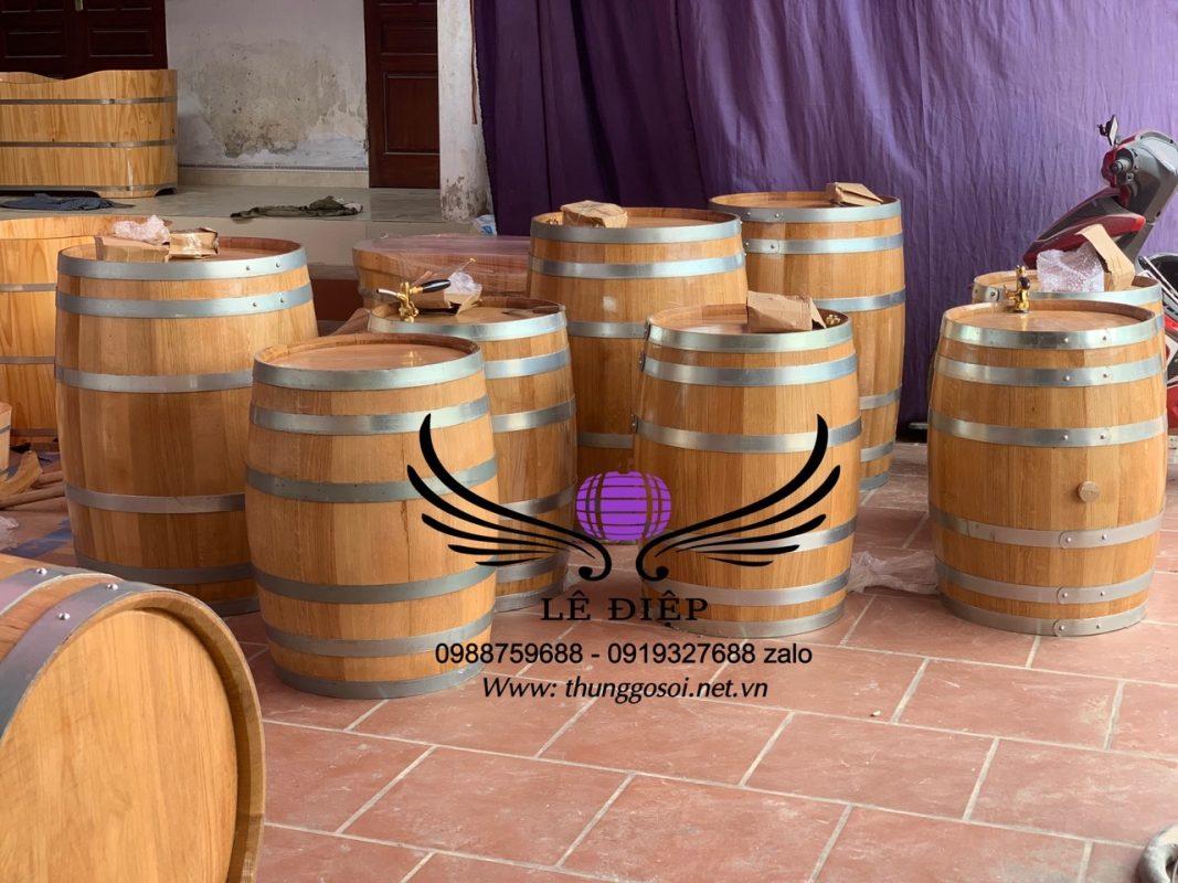 thùng rượu gỗ 50l