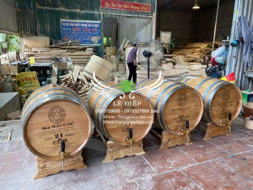 thùng ủ rượu gỗ 100l