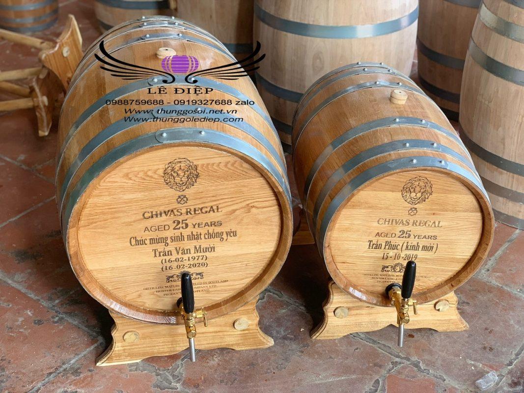 thùng ủ rượu gỗ