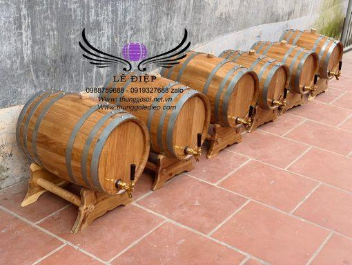 thùng ủ rượu gỗ sồi 20l