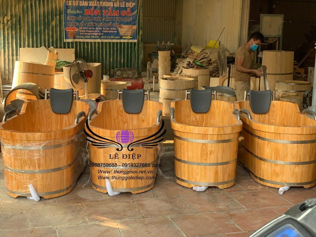 bán thùng tắm gỗ ovan cao cấp