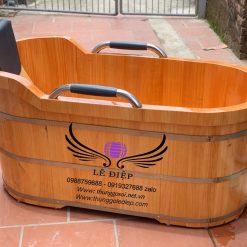 thùng tắm gỗ bầu dục