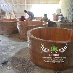 bán bồn tắm gỗ cho resort