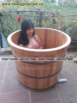 bán bồn tắm gỗ sồi giá rẻ