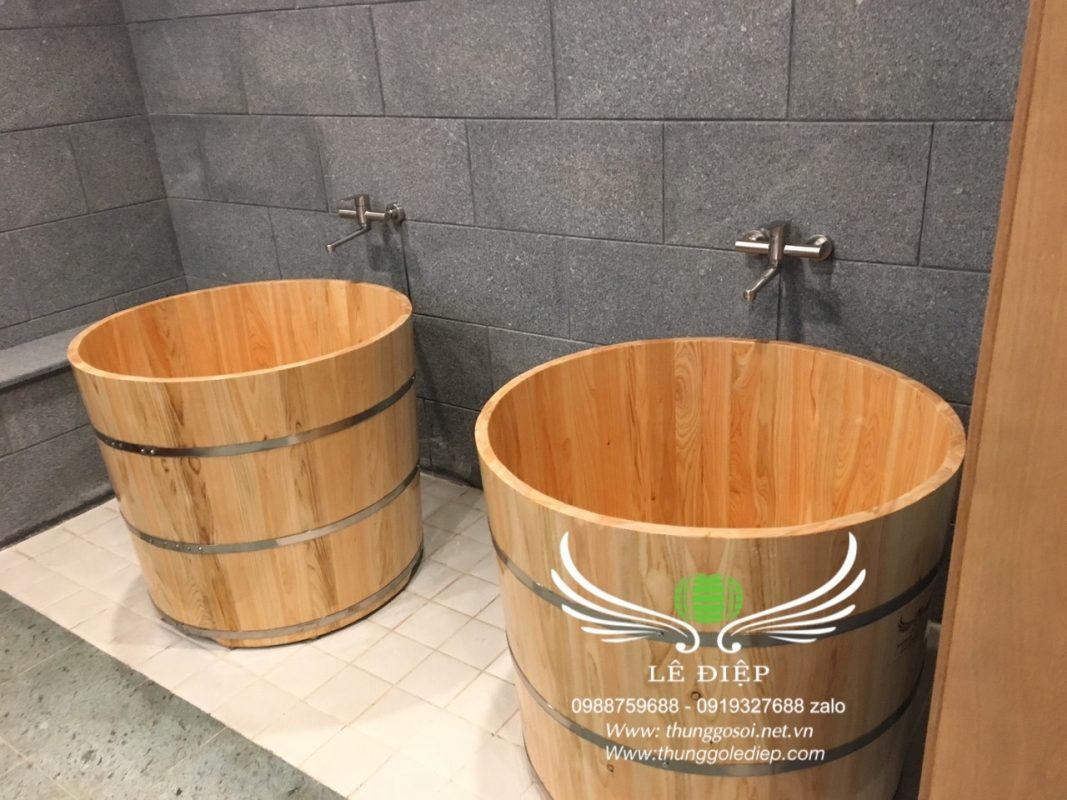 bán bồn tắm gỗ spa