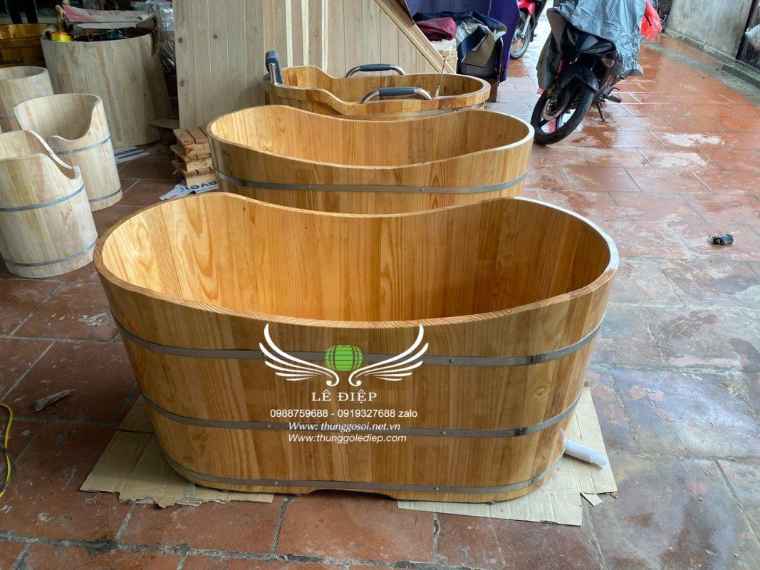 bán thùng tắm gỗ ovan