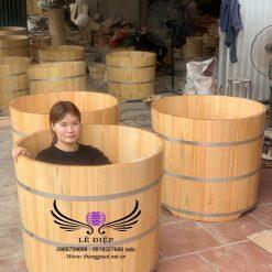 bán thùng tắm gỗ pơ mu