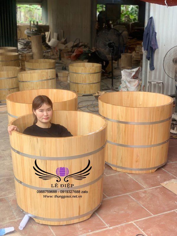 bán bồn tắm đứng gỗ pơ mu