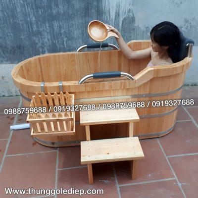 bán thùng tắm gỗ pơmu