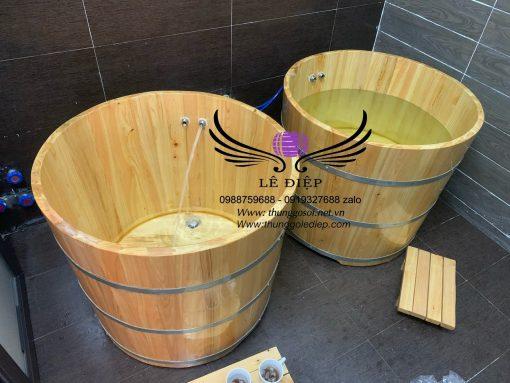 bán thùng tắm gỗ spa