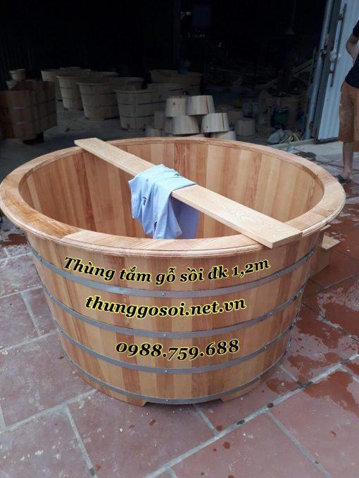 bồn gỗ sồi