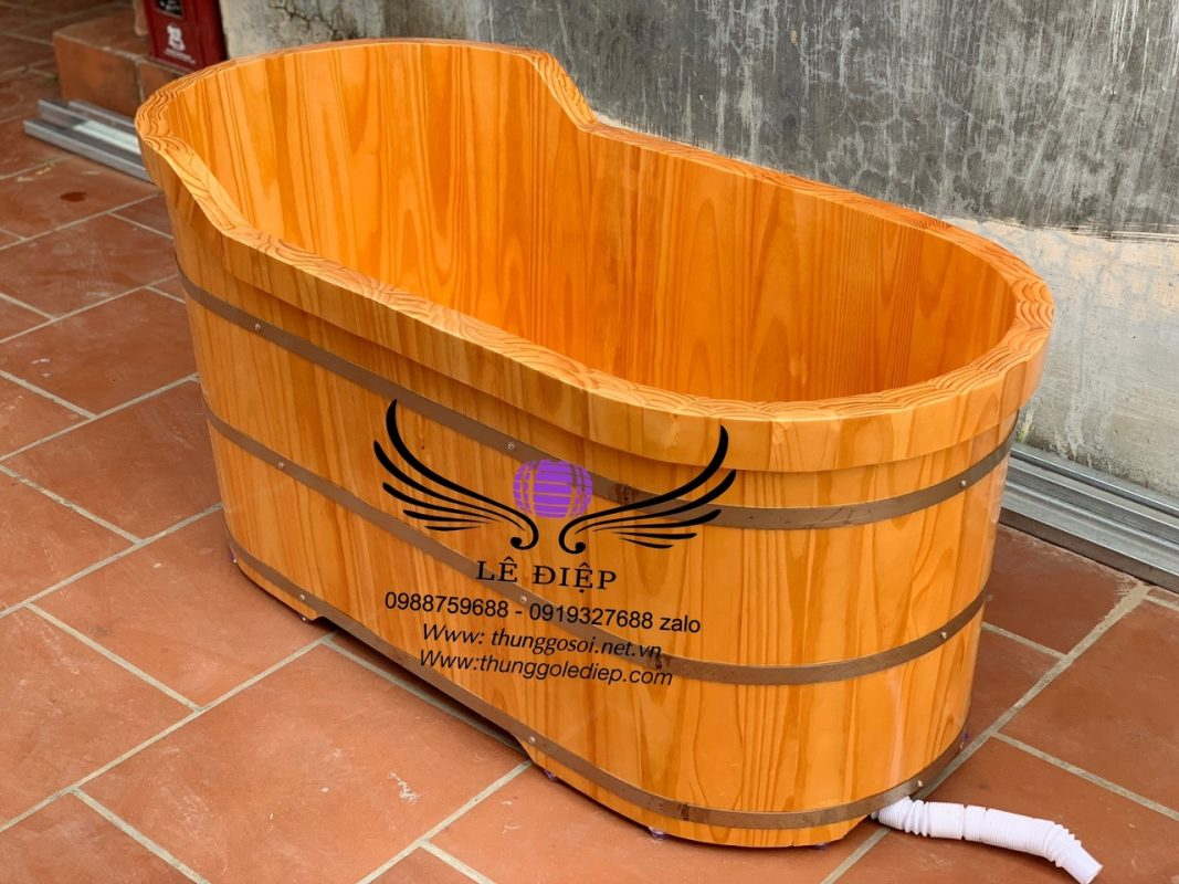 bồn tắm bằng gỗ