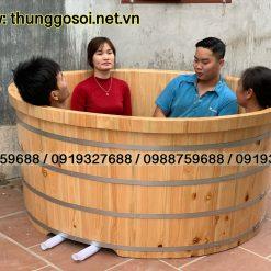 bồn tắm đôi gỗ cao cấp