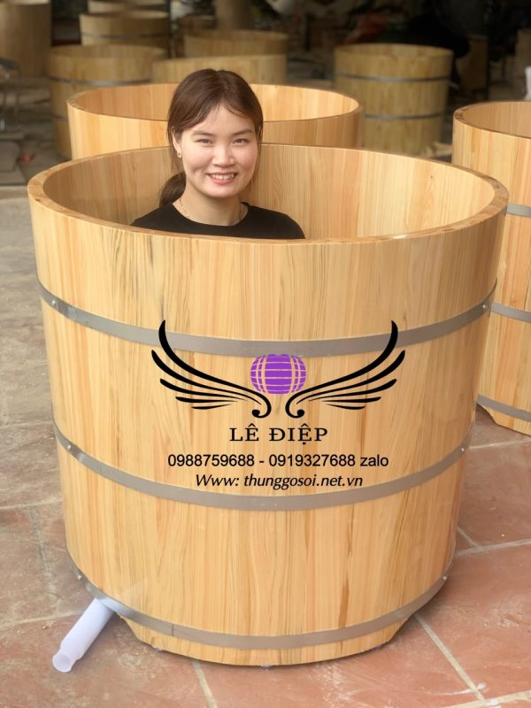 bồn tắm gỗ kiểu nhật cao cấp