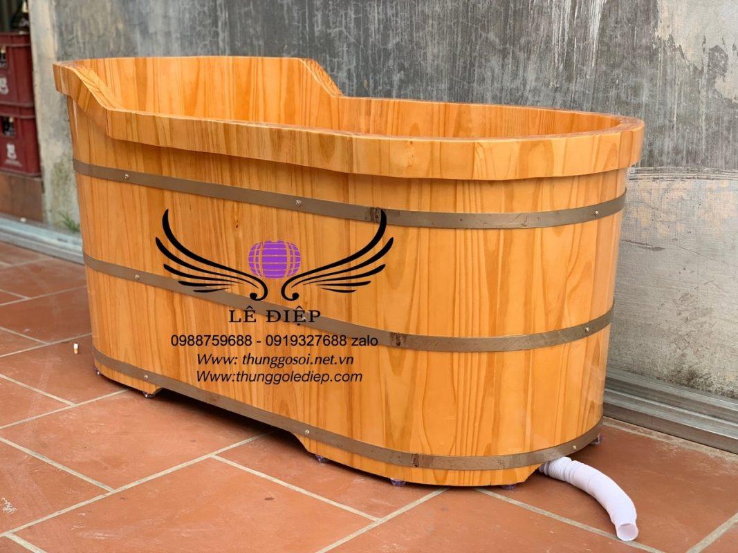 bồn tắm gỗ ovan giá rẻ
