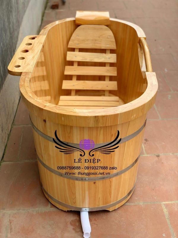 bồn tắm gỗ pơmu giá rẻ