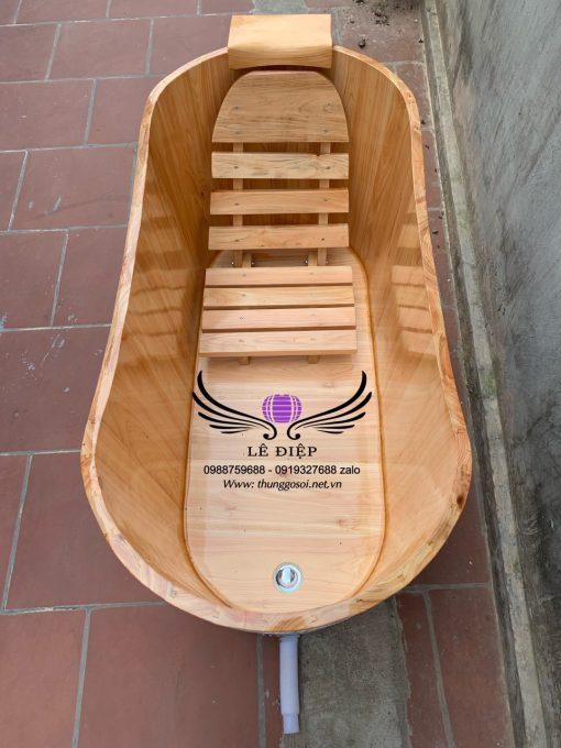 bồn tắm gỗ pơmu nhật