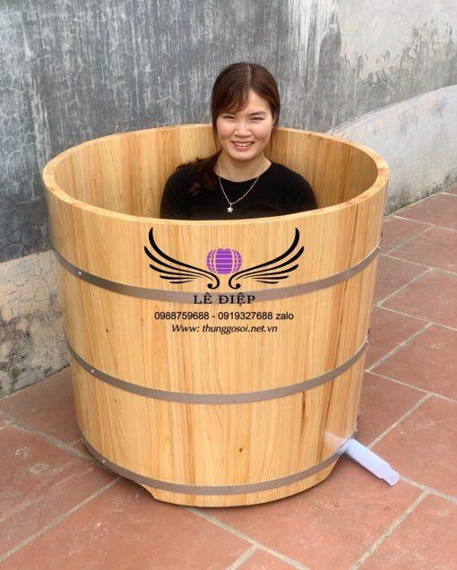 thùng tắm bằng gỗ hinoki