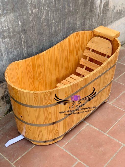 bồn tắm gỗ thông giá rẻ