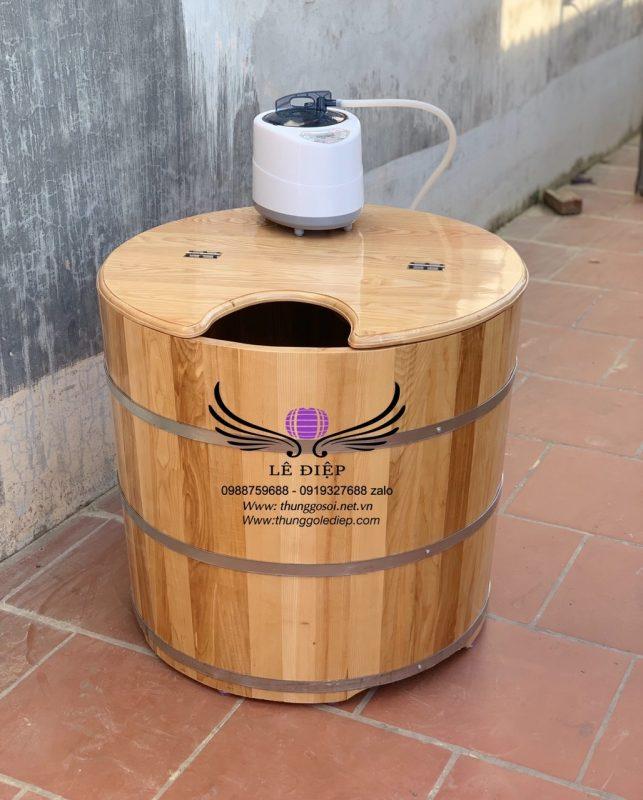 thùng tắm xông hơi bằng gỗ