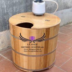 bồn xông hơi gỗ sồi