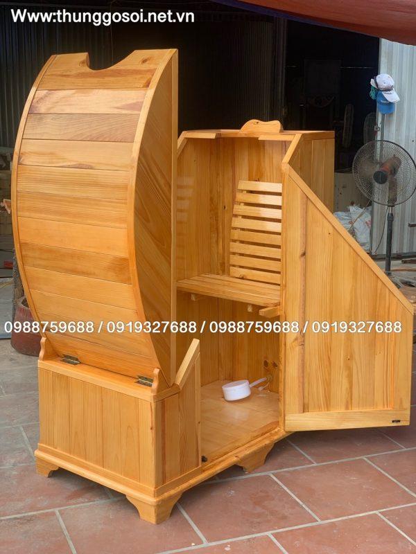 bồn xông gỗ thông