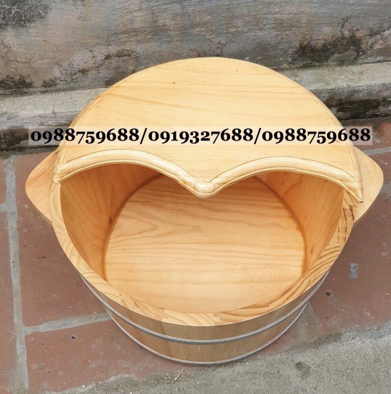 bồn ngâm chân bằng gỗ