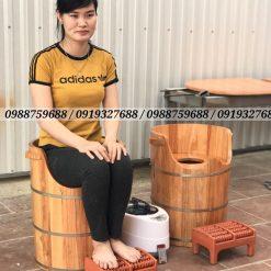 chậu gỗ xông vùng kín