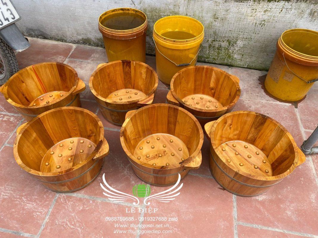 bồn ngâm chân gỗ cao cấp