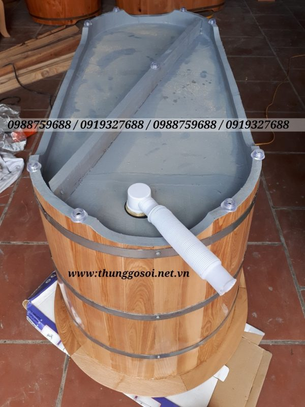 phần đáy thùng tắm gỗ