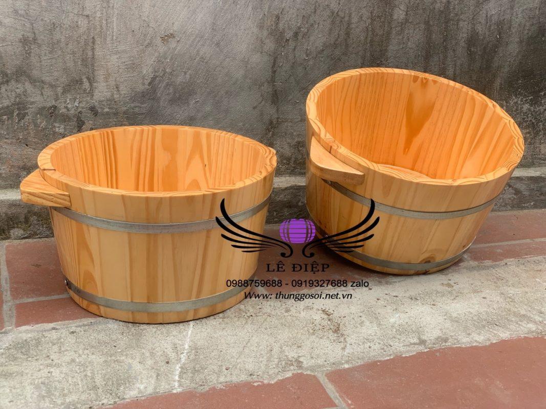 thùng gỗ ngâm chân