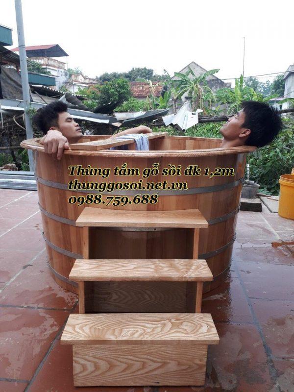 thùng gỗ spa