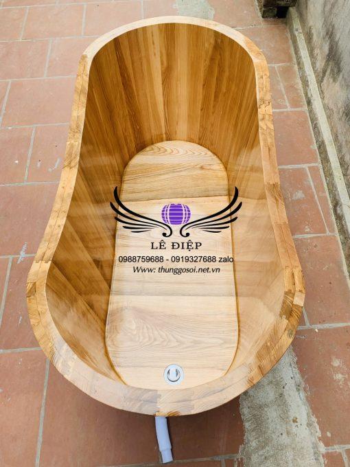 thùng tắm bằng gỗ sồi cao cấp