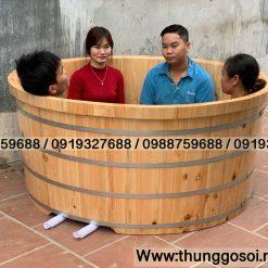 thùng tắm đôi gỗ pơmu