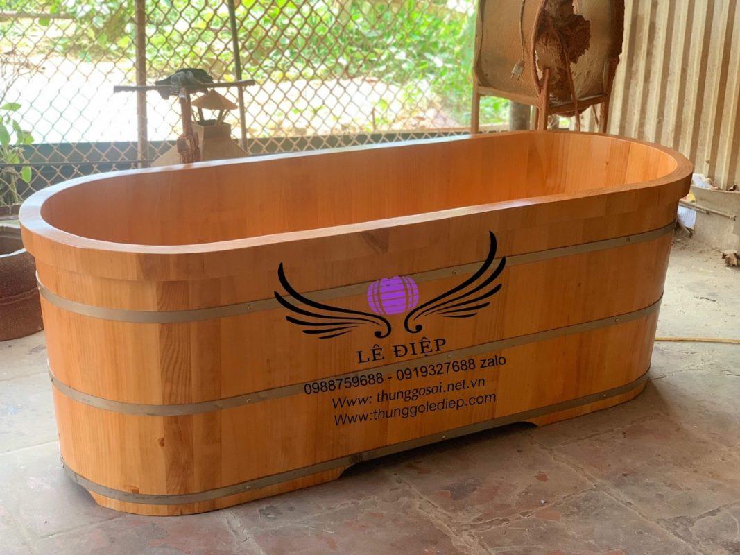 bồn tắm gỗ xông