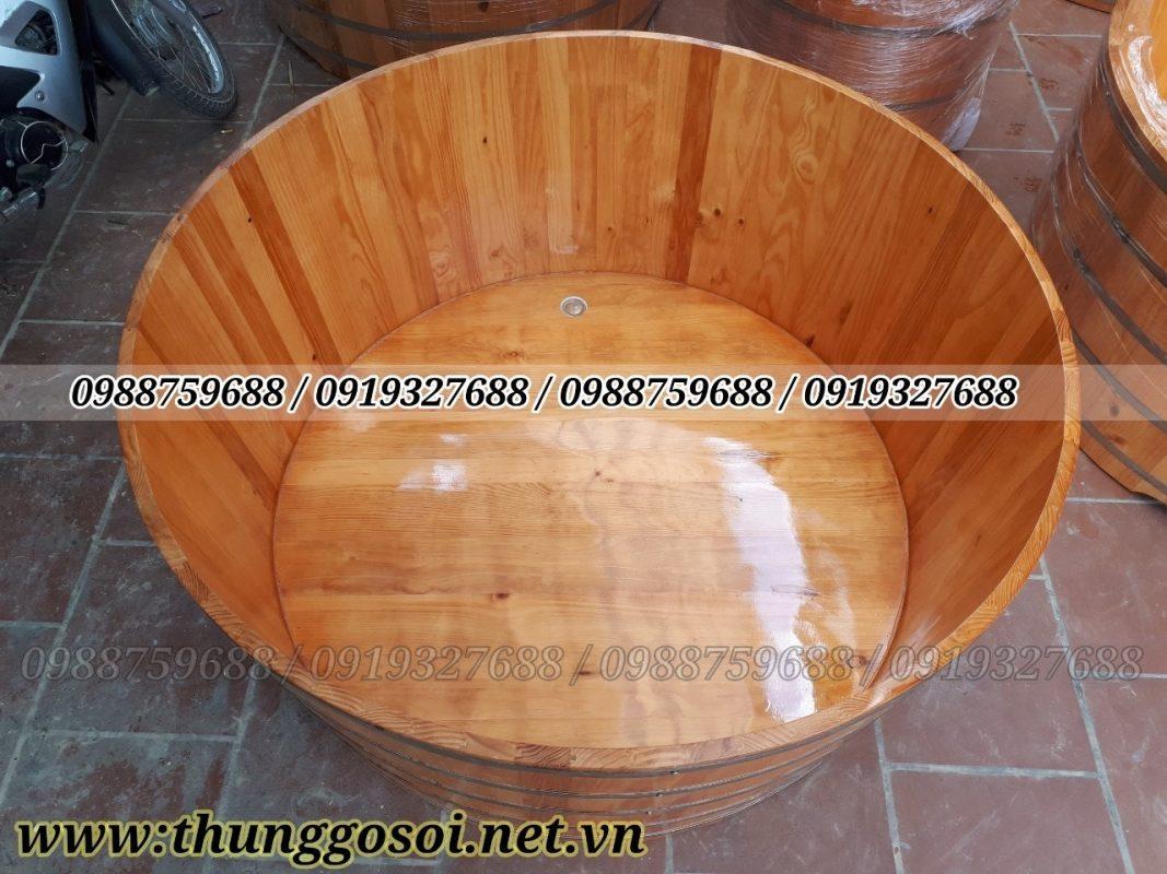 thùng tắm gỗ dành cho gia đình