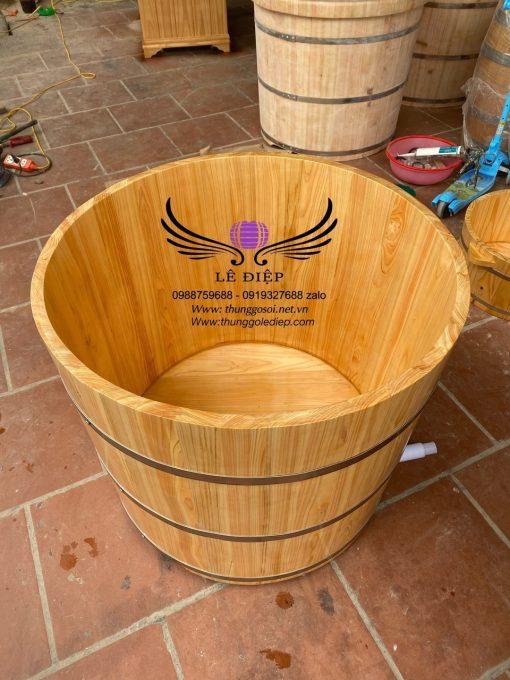 thùng tắm gỗ pơmu nhật