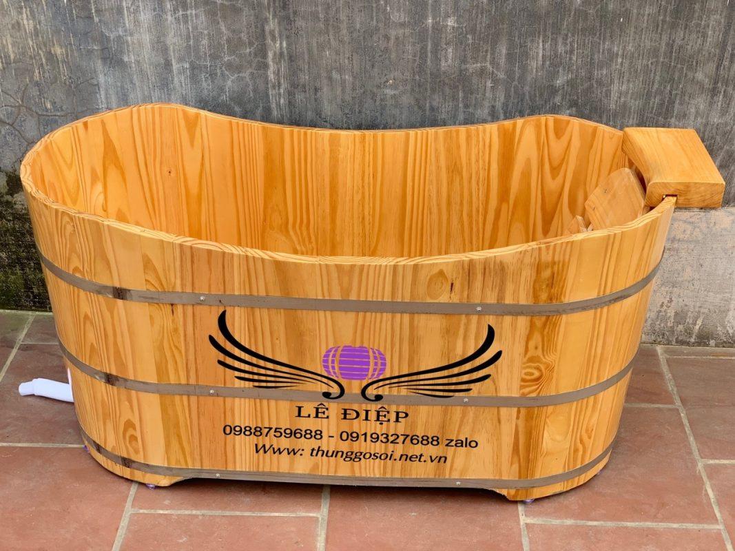 thùng tắm gỗ thuốc