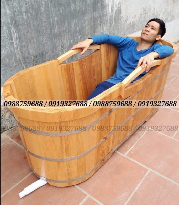 bán thùng tắm gỗ sồi