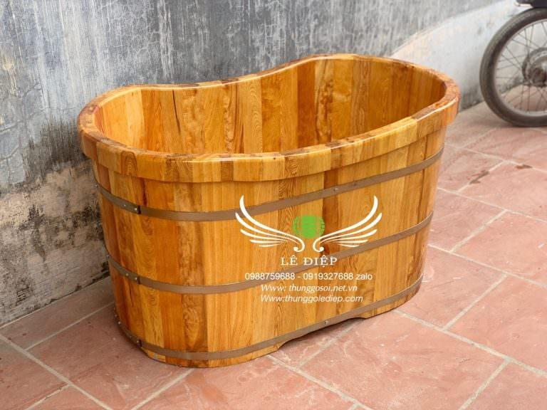 bồn tắm gỗ cho trẻ