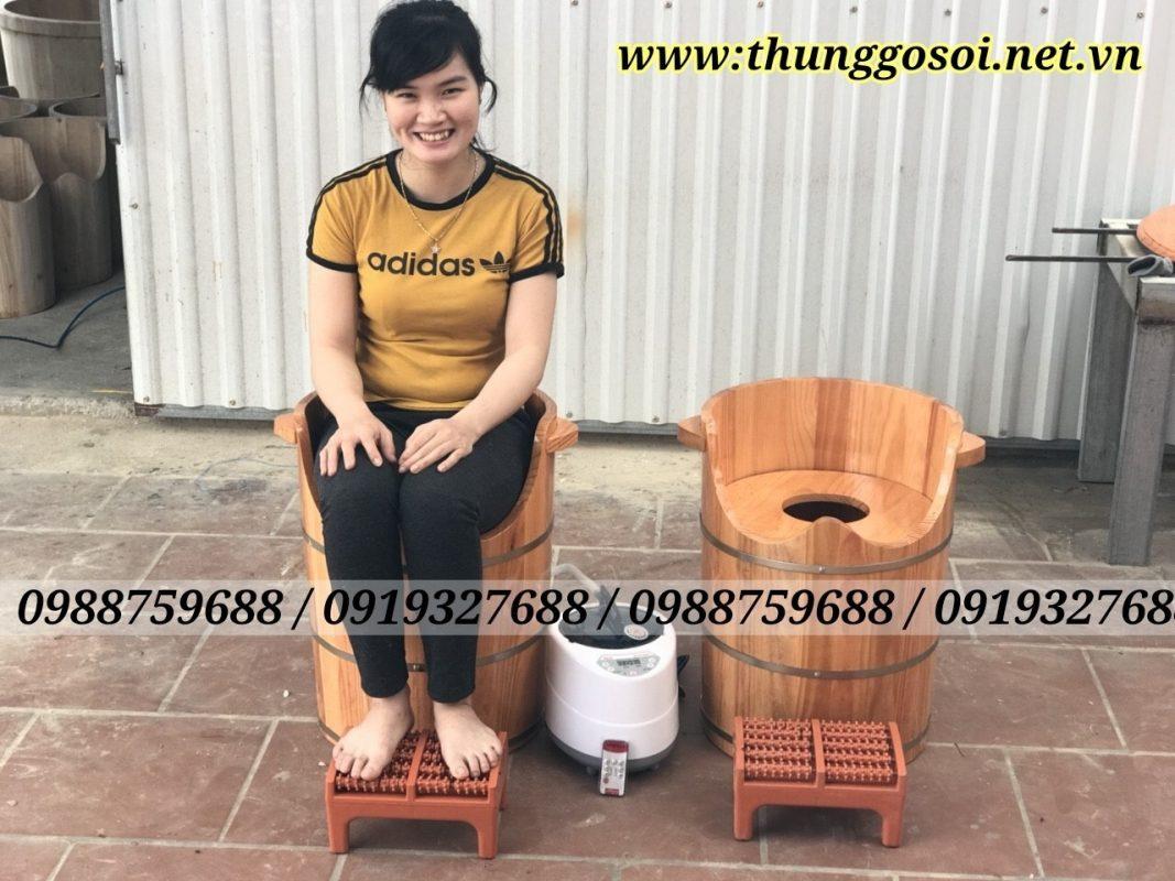thùng gỗ xông âm đạo